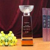 Il cristallo all'ingrosso di sport assegna il trofeo di vetro della tazza di mondo (KS4008)
