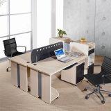 Divisória dobro barata do escritório para quatro - pessoa com gabinete (SZ-WST763)