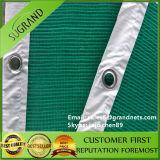 Réseau tricoté par HDPE vert de sécurité dans la construction d'échafaudage