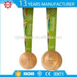 Heiße Verkaufs-Andenken-freie Form-Rio-Medaille 2016