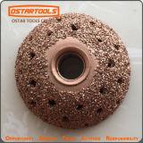 Moedura abrasiva redonda do pneumático da esfera original da roda lustrando do carboneto