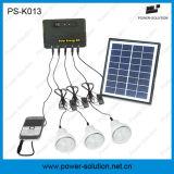 sistema a energia solare domestico di CC del comitato solare 4W con il caricatore del telefono mobile