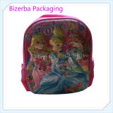 3D più poco costoso Princess variopinto Kid School Bag Backpack