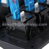 Переключатель панели перекидного переключателя шатии автоматов защити цепи 6 кнопка электрический