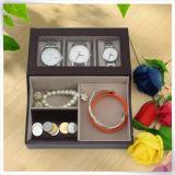 Caixa de couro Handmade Eco-Friendly da coleção de relógio Pocket do plutônio única