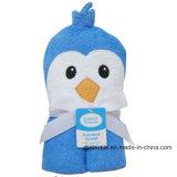 Toalla de algodón del bebé de la toalla del poncho con capucha de baño con un diseño elegante