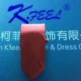 Cravate marron de polyester avec le logo de broderie