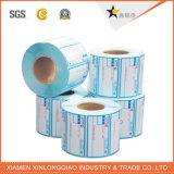 Forma personalizada troquelada Impreso adhesivo de impresión de etiquetas engomada de papel