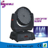Stage Lighting (HL-006YS)의 108PCS LED Moving Head Wash Light