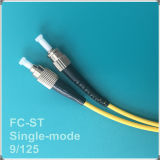 Cabo de remendo da fibra óptica da única modalidade do PC FC-St