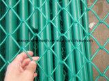 Cerca soldada revestida PVC galvanizada da ligação Chain de engranzamento de fio para o campo de jogos