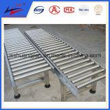transportador de rodillo del almacén de la anchura de 100m m para el transporte del conjunto