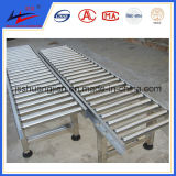 Transportador de rodillos de almacén de ancho de 100 mm para transporte de paquetes