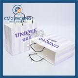관례에 의하여 인쇄되는 Kraft 종이 쇼핑 백 (DM-GPBB-130)