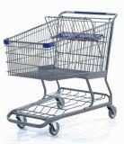大きい金網の亜鉛によってめっきされるスーパーマーケット手のトロリー