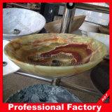 Зеленый мраморный каменный тазик раковины/мытья