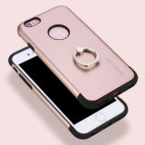 Plaquer la caisse de téléphone avec le support de boucle pour l'iPhone 7/7 positif