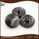 Le cuir en cuir noir mou de bouton de partie lisse a couvert des boutons