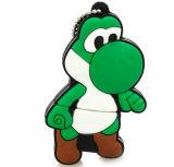 Palillo Shaped de la memoria 64G del dinosaurio fresco de Yoshi 4G Mario de la historieta del mecanismo impulsor del flash del USB de Mario