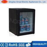 réfrigérateur en verre de Minibar d'hôtel de la porte 12V