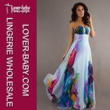 Sleeveless gedrucktes trägerloses Kleid L51253
