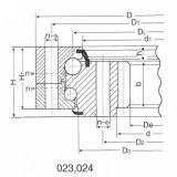 Anillo de la matanza del mecanismo impulsor del excavador 50mn Hitachi Ex100-1PC30-2 de los rodamientos de la ciénaga de la bola