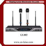 Ls-803 Microfoon van de Kanalen van de goede Kwaliteit de Dubbele UHF Draadloze
