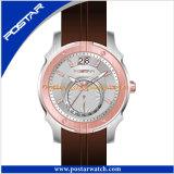 Relógios impermeáveis de quartzo para homens com a faixa do couro genuíno