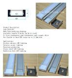 Aluminiumstrangpresßling für Küche-Schrank OpalplastikCoverd LED Aluminiumprofil mit den Klipp-Endstöpseln zusätzlich
