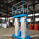 De dubbele Hydraulische Lift van de Legering van het Aluminium van het Platform van de Mast Elektrische Lucht Werkende Opheffende