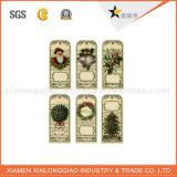 3D Mini Natal / Gift Paper Hang Tag com String nos EUA