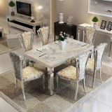 Großhandelspreis-preiswerte weiße Marmoresszimmer-Tisch-Speisetische