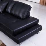 Klassisches Spitzenkorn-Leder-Sofa (912#)