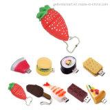 La nourriture colorée de dessin animé Ouvrir-Conçoivent le lecteur flash USB