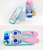 Caixas da pele do silicone do coelho dos desenhos animados 3D para o iPhone/Samsung