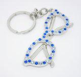"""26의 편지 유효한 알파벳 """"Z"""" 모조 다이아몬드 금속 Keychain"""