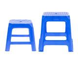 Kurze quadratische Schemel-einfacher Entwurfs-blaue Stuhl-Möbel, die Stuhl speisen