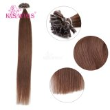 Estensioni europee dei capelli di punta del chiodo della cheratina di estensioni dei capelli umani di Remy delle parrucche del K.S