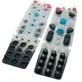 Precision élastomère Silk Screen Silicone Rubber Button pour Remote Controller