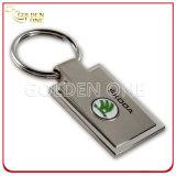 Cuoio Keychain dell'epossidico di rivestimento spazzolato acciaio di alta qualità