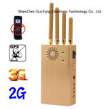 Battery Handheld 4 Bands Jammer構築のシグナルJammer 3G GPS GSM CDMA Cellphone Signal Jammer Blocker 3G GPS Jammer