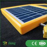 黄色いプラスチックフレームとの小さい太陽電池パネル3.4W 9V