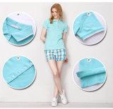 Camicia di polo personalizzata di modo del cotone di morbidezza 100 del Multi-Tasto per le donne