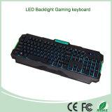 Vendita caldo Tre colori LED ha fissato retroilluminazione Computer Gaming Keyboard