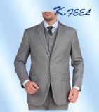 Свет - серая кнопка Mens 2 костюм пригонки 3 частей самомоднейший