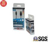Коробка пластичный упаковывать офсетной печати, ясное печатание коробки PVC/Pet, прозрачная упаковывая коробка для кабеля