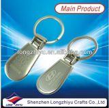 Logotipo feito sob encomenda Keychain do carro de metal da venda direta da fábrica