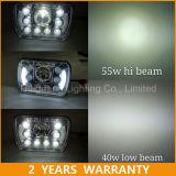 7inch 정연한 LED 헤드라이트 55W Hilow 광속 5X7 트럭 헤드라이트