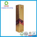 rectángulo de empaquetado determinado de sellado caliente de papel del regalo cosmético