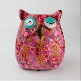 Venda por atacado cerâmica do banco Piggy da coruja do teste padrão de flores